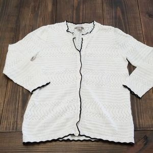 LOFT Outlet Cream Lace Cardigan Size Medium